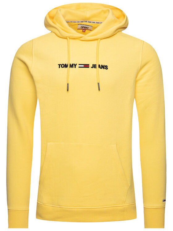 Tommy Jeans Tommy Jeans Bluză Straight Logo Hoodie DM0DM07030 Galben Loose Fit