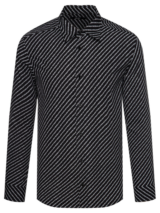 Diesel Diesel Košile Penn Copy Shirt 00S96F 0PAYJ Černá Regular Fit