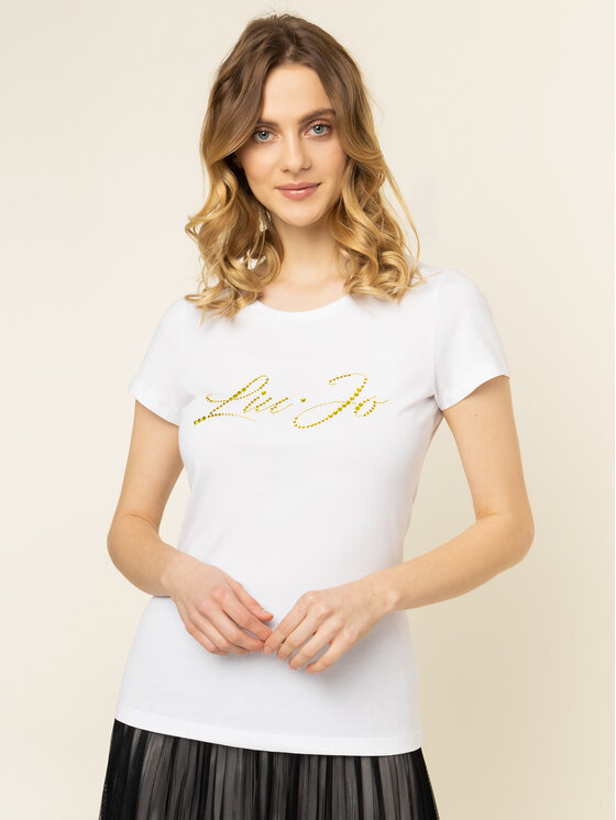 Liu Jo Liu Jo T-Shirt WA0427 J5703 Bílá Regular Fit