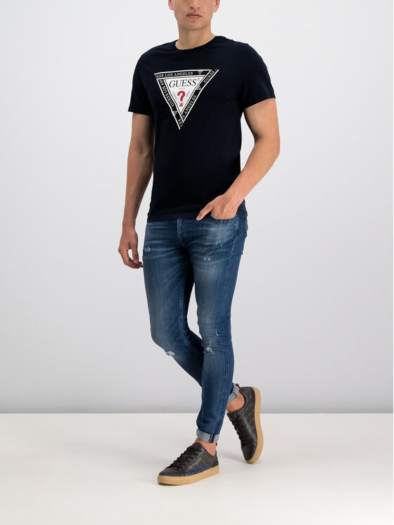 Guess Guess T-Shirt M93I45 R5JK0 Μαύρο Slim Fit