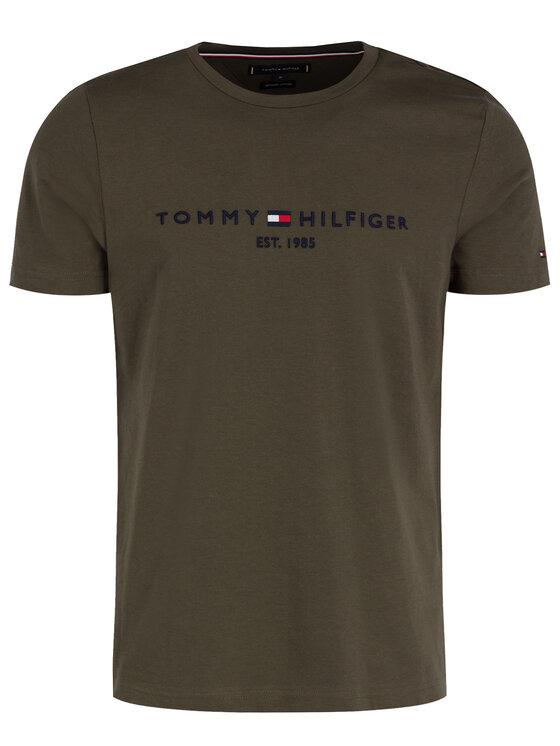 Tommy Hilfiger Tommy Hilfiger Póló Logo MW0MW11797 Zöld Regular Fit