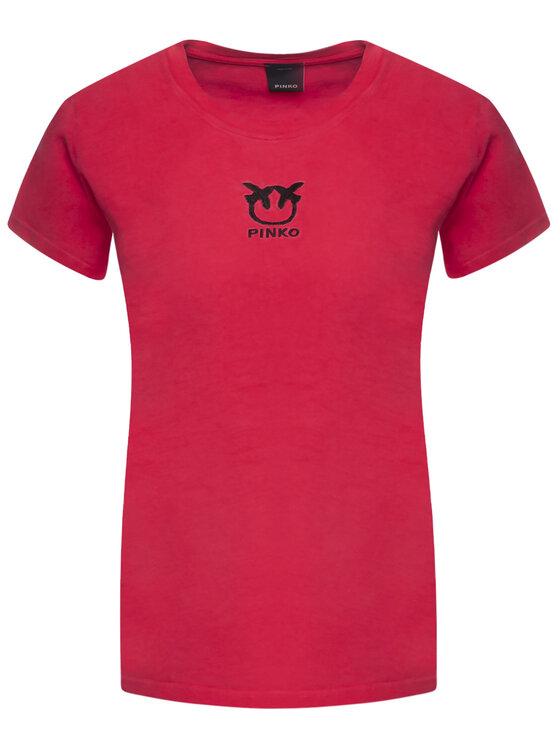 Pinko Pinko T-Shirt Bussolano PE 20 BLK01 1G14XB Y651 Czerwony Regular Fit