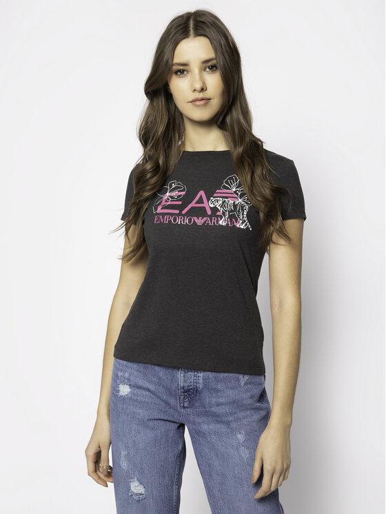 EA7 Emporio Armani EA7 Emporio Armani T-Shirt 3HTT18 TJ12Z 3909 Szary Regular Fit