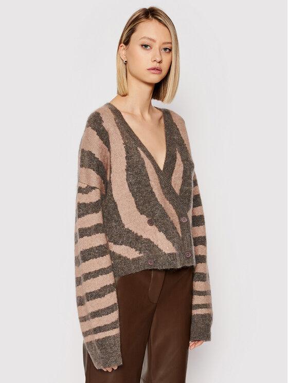 Remain Kardiganas Cami Cardigan Knit Zebra Print RM331 Ruda Regular Fit