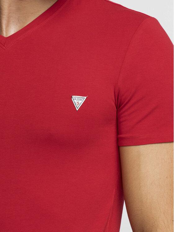 Guess Guess Tricou M92I08 J1300 Roșu Super Slim Fit