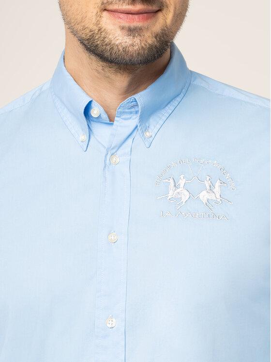 La Martina La Martina Košile Poplin CCMC01 PP003 Modrá Regular Fit