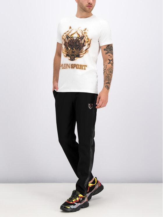Plein Sport Plein Sport T-Shirt F19C MTK3710 SJY001N Weiß Regular Fit