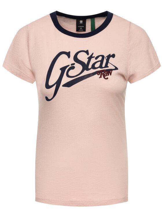G-Star Raw G-Star Raw T-Shirt D14704-4107-7176 Růžová Slim Fit