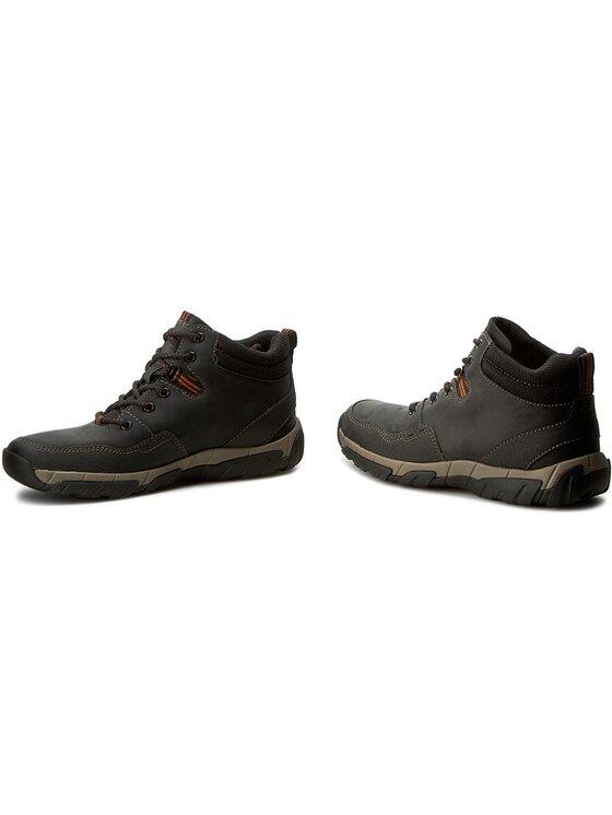 Clarks Clarks Šnurovacia obuv Walbeck Top 261219347 Čierna