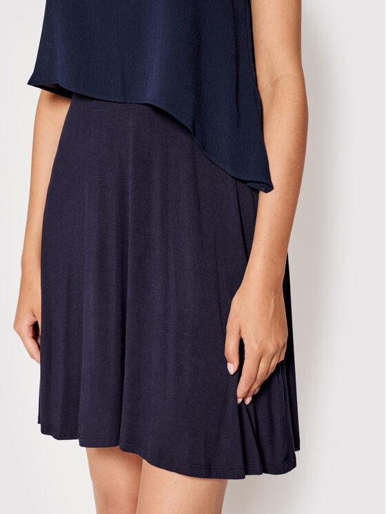DKNY DKNY Sukienka koktajlowa DD1EL806 Granatowy Slim Fit