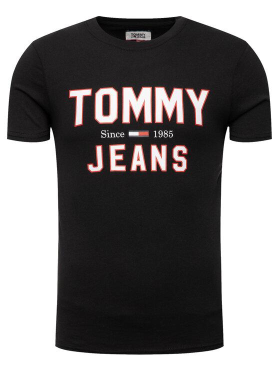 Tommy Jeans Tommy Jeans Tričko Essential DM0DM07067 Čierna Slim Fit