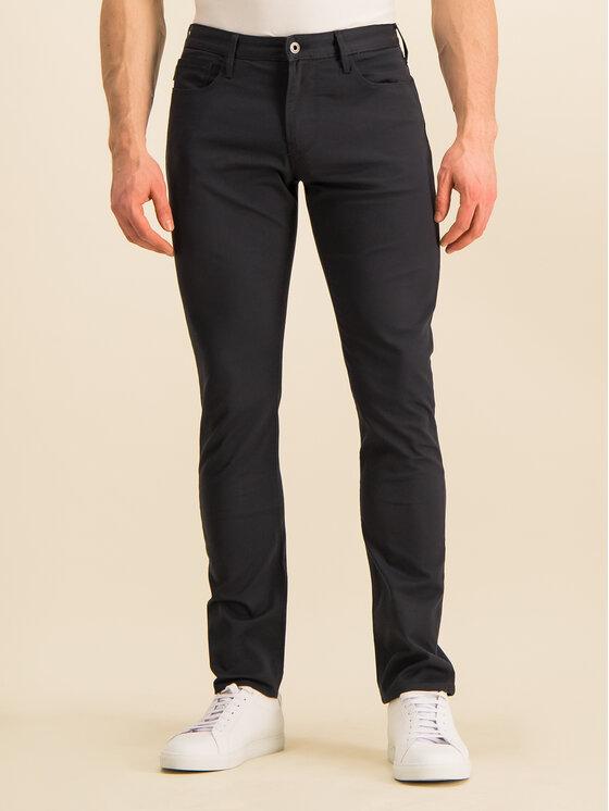 Emporio Armani Emporio Armani Pantaloni di tessuto 8N1J06 1N0LZ 0998 Blu scuro Slim Fit