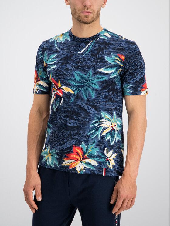 Tommy Hilfiger Tommy Hilfiger T-Shirt MW0MW10810 Tmavomodrá Regular Fit