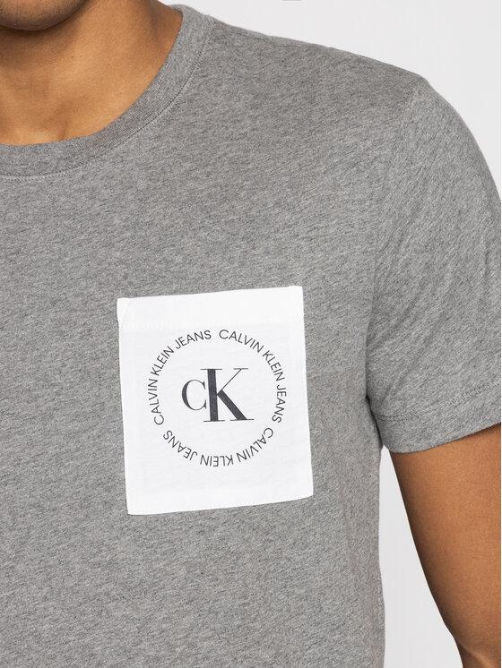 Calvin Klein Jeans Calvin Klein Jeans T-Shirt Pocket Logo J30J314761 Szary Regular Fit