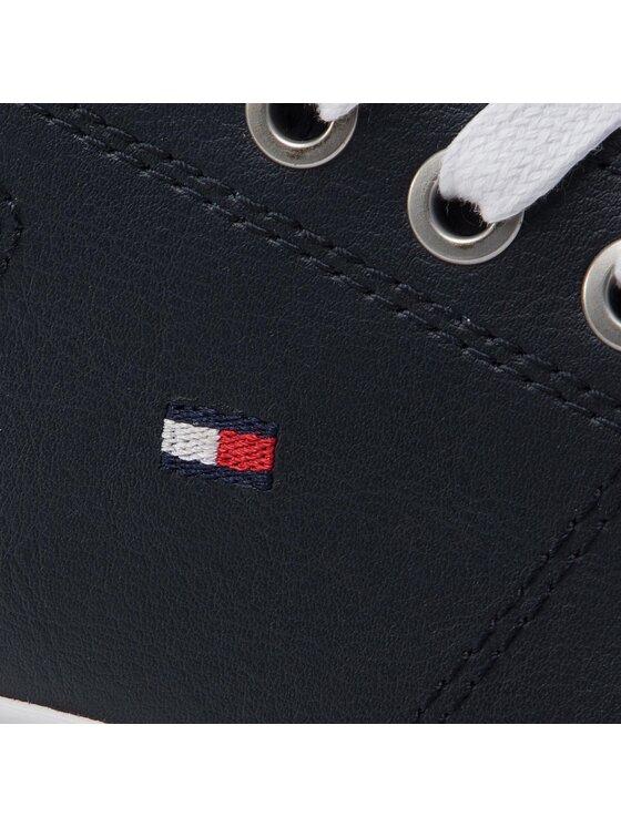 Tommy Hilfiger Tommy Hilfiger Sneakersy Essential Leather Sneaker FM0FM02203 Tmavomodrá