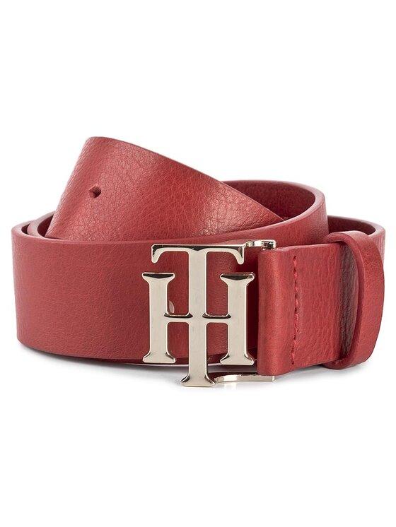 Tommy Hilfiger Tommy Hilfiger Pasek Damski Th Buckle Belt 3.5 AW0AW04467 75 Czerwony