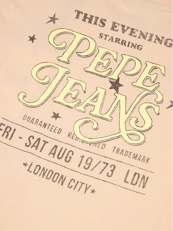 Pepe Jeans Pepe Jeans Marškinėliai Cadenza PG502369 Rožinė Regular Fit