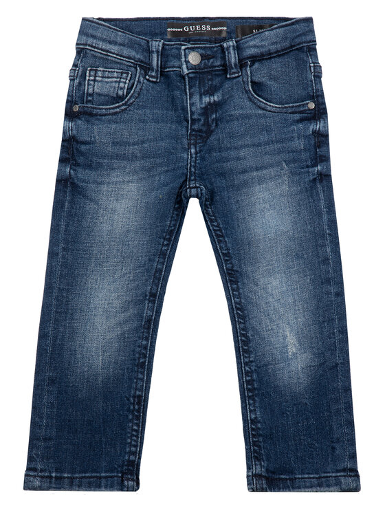 Guess Guess Jeansy N93A04 D3QS0 Granatowy Slim Fit