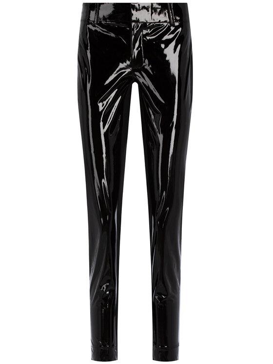 Guess Guess Spodnie skórzane Menodora W01B73 WBUE0 Czarny Regular Fit