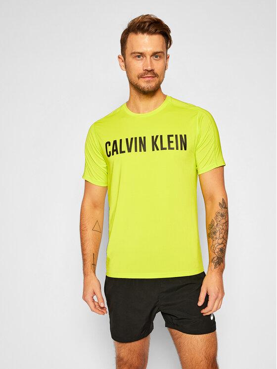 Calvin Klein Performance Marškinėliai 00GMF0K150 Žalia Regular Fit