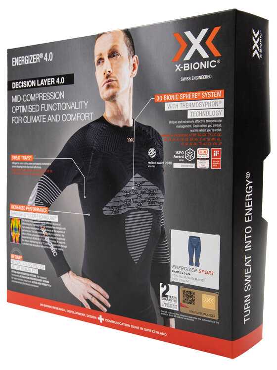 X-Bionic X-Bionic Sous-vêtement thermique bas Energizer 4.0 NGYP07W19M Bleu Slim Fit