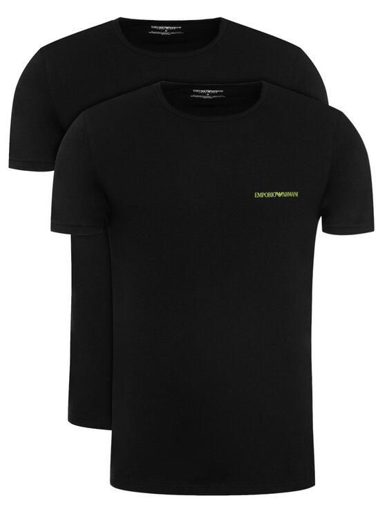Emporio Armani Underwear Emporio Armani Underwear Komplet 2 t-shirtów 111267 9A717 07320 Czarny Regular Fit