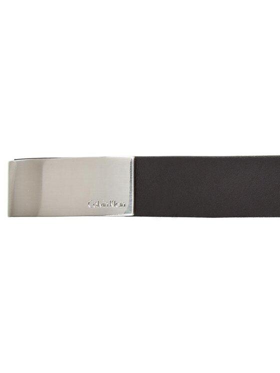 Calvin Klein Calvin Klein Dámsky opasok Standalone Curved Plaque Belt K60K602362 85 Čierna