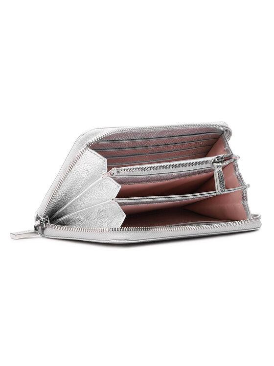 Coccinelle Coccinelle Duży Portfel Damski HW5 Metallic Soft E2 HW5 11 04 01 Srebrny