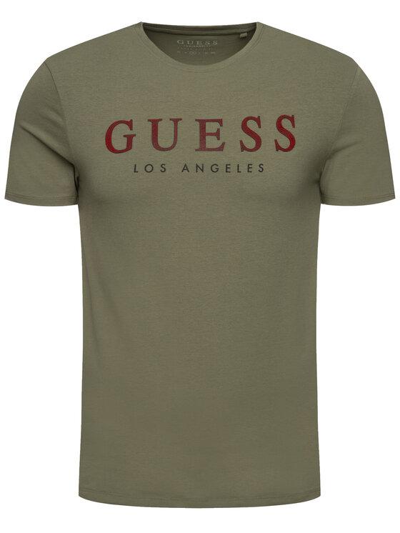 Guess Guess T-shirt M94I39 J1300 Verde Regular Fit