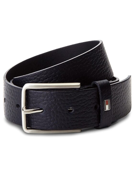 Tommy Hilfiger Tommy Hilfiger Cintura da uomo Grain Leather Belt 3 AM0AM03482 85 Blu scuro