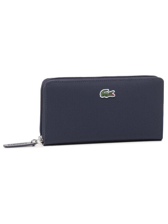 Lacoste Didelė Moteriška Piniginė L Zip Wallet NF2900PO Tamsiai mėlyna