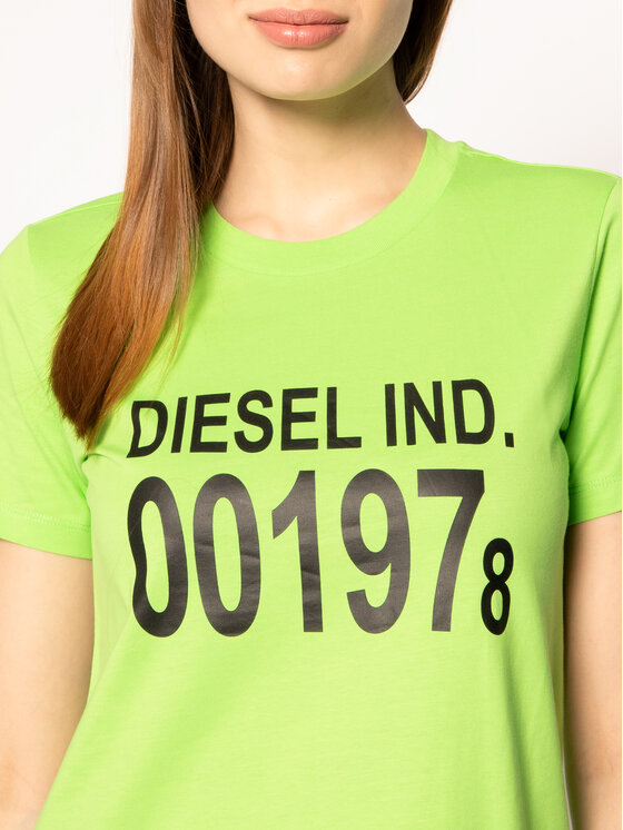 Diesel Diesel T-Shirt T-Sily 00SC3F 0CATJ Zielony Regular Fit
