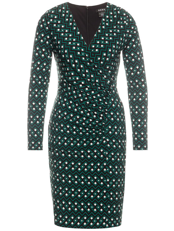 DKNY DKNY Každodenné šaty DD9J7286 Zelená Regular Fit