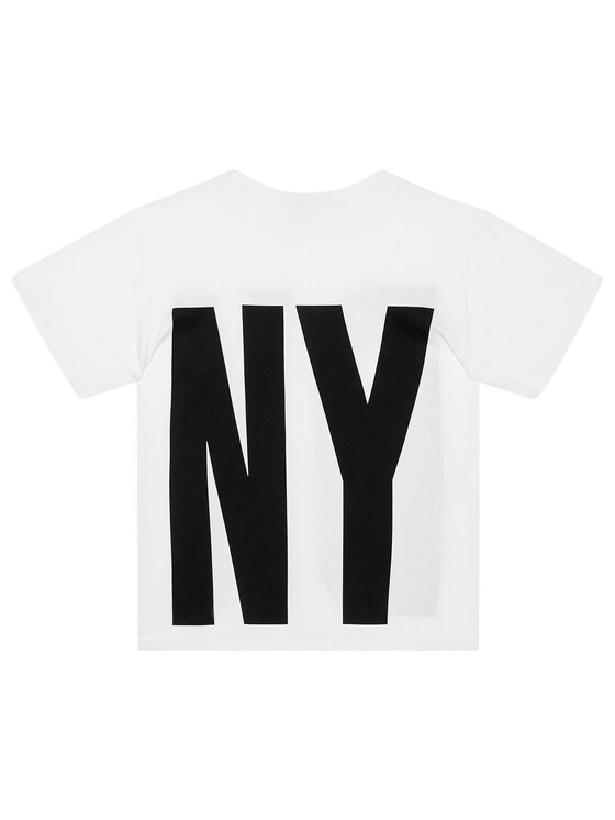 DKNY DKNY T-Shirt D35Q84 D Biały Regular Fit