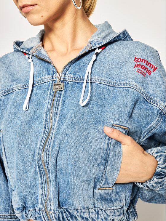 Tommy Jeans Tommy Jeans Džinsinė striukė Hoodie DW0DW08157 Mėlyna Regular Fit