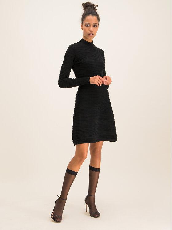 Hugo Hugo Úpletové šaty Sumeeya 50430666 Černá Slim Fit