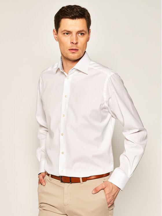 Eton Marškiniai 100000976 Balta Regular Fit