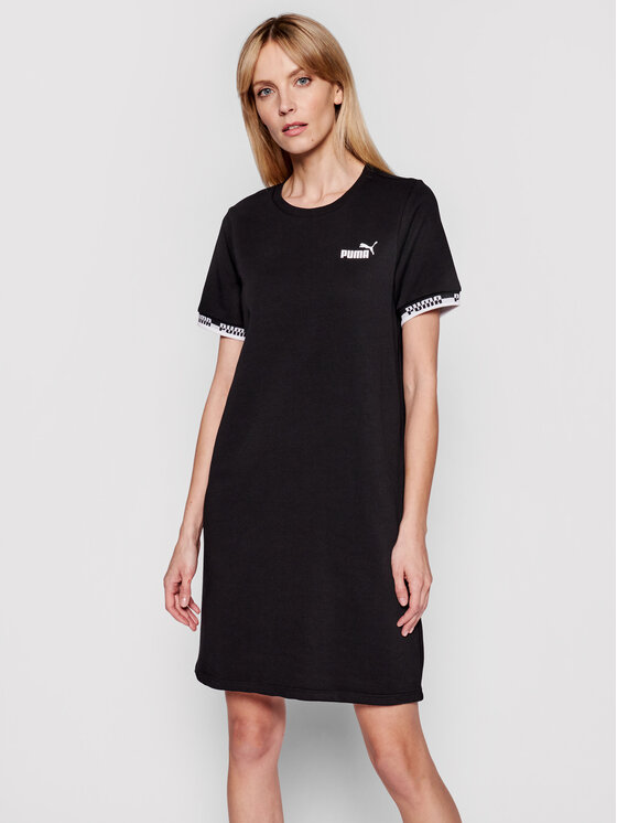Puma Robe en tricot Amplified 585912 Noir Relaxed Fit