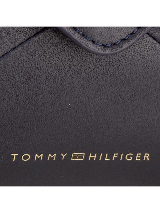 Tommy Hilfiger Tommy Hilfiger Borsa Geo Block Lether Clutch/Crossover AW0AW04883 Blu scuro