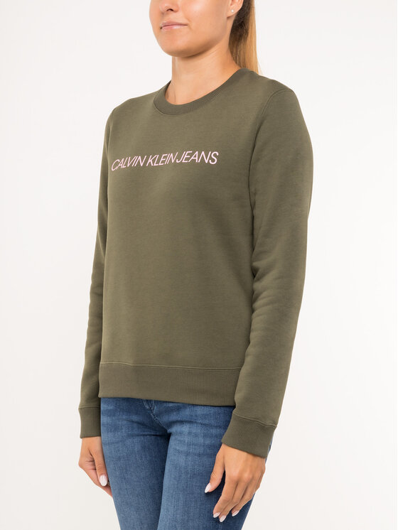 Calvin Klein Jeans Calvin Klein Jeans Μπλούζα Institutional J20J212483 Πράσινο Regular Fit