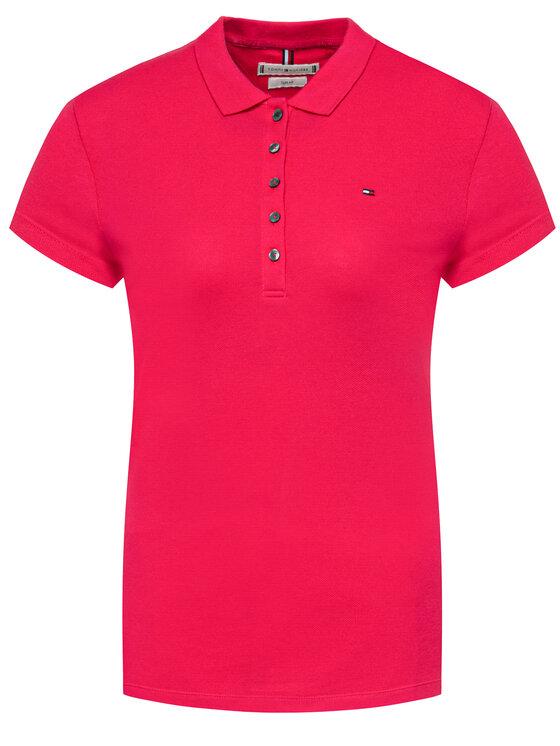 Tommy Hilfiger Tommy Hilfiger Polo marškinėliai WW0WW27947 Rožinė Slim Fit