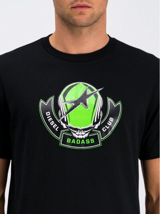 Diesel Diesel T-Shirt T-Just 00SXM1 0091A Schwarz Regular Fit