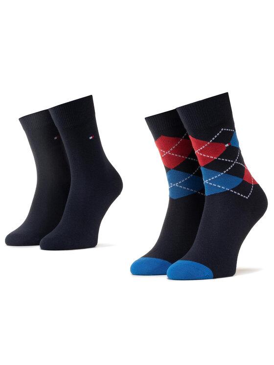 TOMMY HILFIGER TOMMY HILFIGER 2 pár hosszú szárú gyerek zokni 334013001 Kék