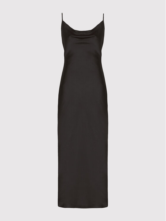 Guess Guess Sukienka wieczorowa New Akilina W1YK1C WD8G0 Czarny Slim Fit