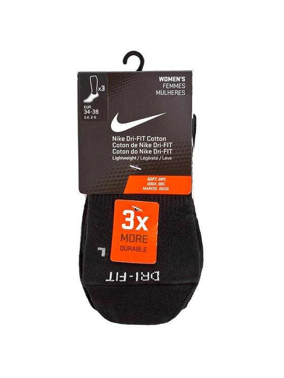 NIKE NIKE Σετ 3 ζευγάρια κοντές κάλτσες γυναικείες Women's Femmes Mulheres SX4842 912 Μαύρο