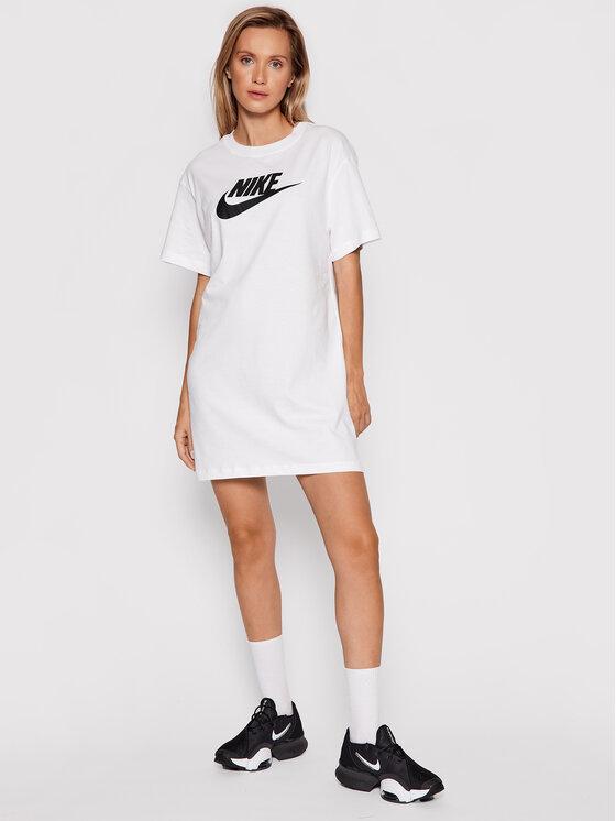 Nike Nike Haljina za svaki dan Sportswear Essential DM3278 Bijela Loose Fit