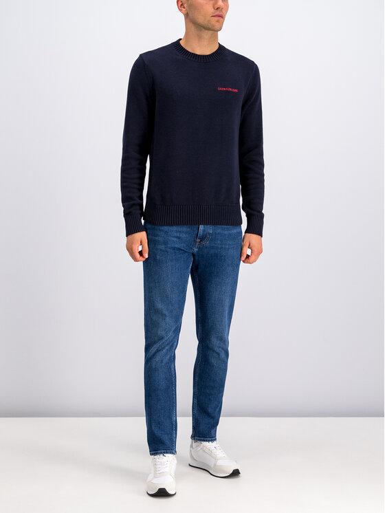 Calvin Klein Jeans Calvin Klein Jeans Svetr Instit J30J313480 Tmavomodrá Regular Fit