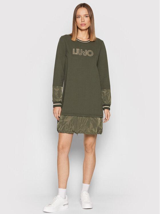 Liu Jo Liu Jo Džemper haljina TF1072 F0843 Zelena Regular Fit