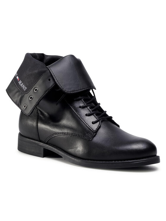 Tommy Jeans Aulinukai Essential Dressed Lace Up Boot EN0EN01101 Juoda