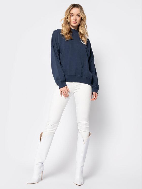 Pepe Jeans Pepe Jeans Μπλούζα Berta PL580911 Σκούρο μπλε Oversize